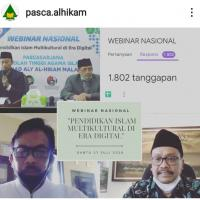 Tiga Guru Besar dan 1802 Google Form Warnai Webinar Perdana Pasca Al-Hikam